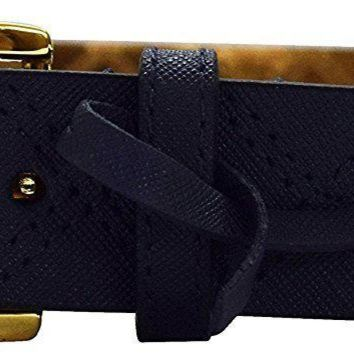 Michael Kors Women's Quilted Saffiano Leather Charm Belt