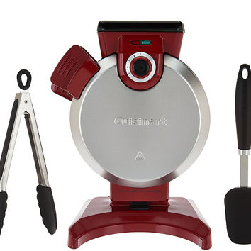 Cuisinart Vertical Waffle Maker with Spatula and Tongs — QVC.com
