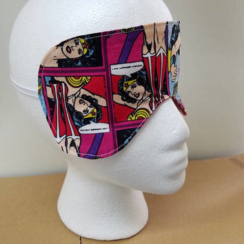 Wonder - woman - polka - dot - print - reversible - Sleep - Mask - Eye - Mask - beauty - mask - bridal - mask - bridesmaid - gift