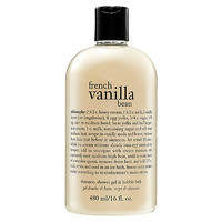 philosophy French Vanilla Bean Shampoo, Shower Gel & Bubble Bath (16 oz)