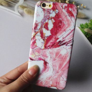 Fashion Retro Marble iPhone 5s 5se 6 6s Plus Case High Quality Cover+ Gift Box