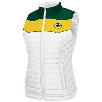 G34HER by Carl Banks Green Bay Packers Super Star Puffer Vest - Women's