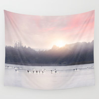 Sunset v6 Wall Tapestry by vivianagonzalez