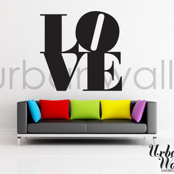 Vinyl Wall Sticker Decal, LOVE