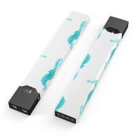 Skin Decal Kit for the Pax JUUL - Blue Watercolor Seahorses