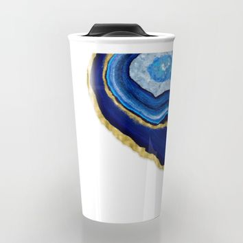 Blue Dripping Agate Travel Mug by Noonday Design