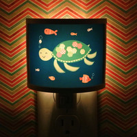 Turtle Tim Sea ocean Swim Underwater Buddy Cute Night Light Nursery Bathroom hallway Bedroom GET IT nightlight Nite Lite