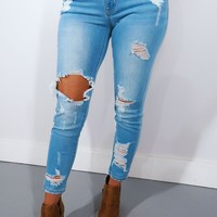 Flirt Back Jeans: Denim