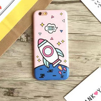 Cartoon rocket phone case for iPhone 7 7plus 6 6S 6plus 6Splus 1107JM01
