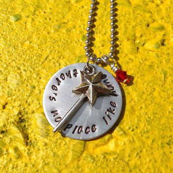Wizard of Oz 'There's No Place Like Home' Inspired Handmade Necklace