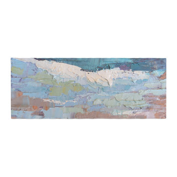 "Carol Schiff ""Surf Dreams"" Blue Painting Bed Runner"