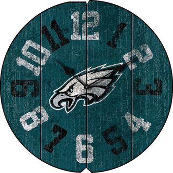 Philadelphia Eagles Vintage Round Clock