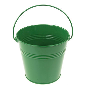 Metal Pail Buckets Party Favor, 5-inch, Green