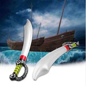 PVC Inflatable Pirate Toy Sword Stage Props Inflated Children Cosplay Hot Toys Outdoor Fun Game Playing Birthday Party Favors