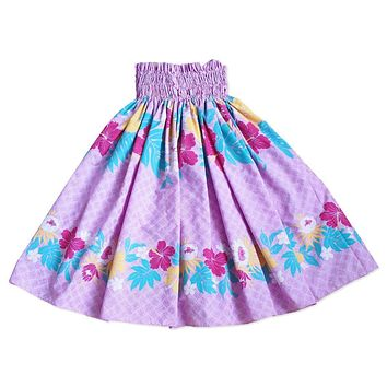 lavender blossom hawaiian single pau hula skirt