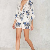 Lie Low Plunging Romper