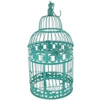 Turquoise Round Metal Bird Cage | Shop Hobby Lobby