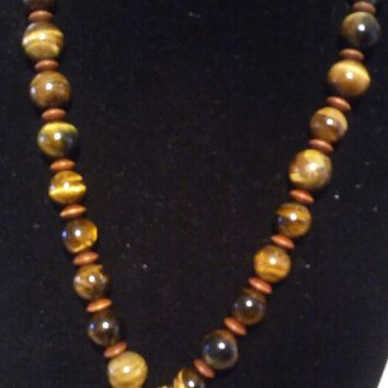 Tiger Eye Statement Necklace