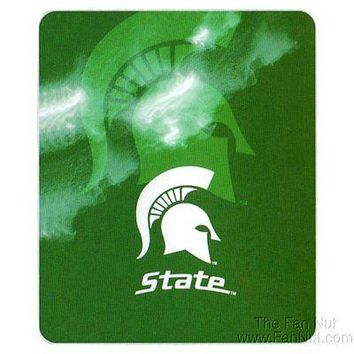 "Michigan State Spartans GHOST Large 50""x60"" Fleece Throw Blanket University of"