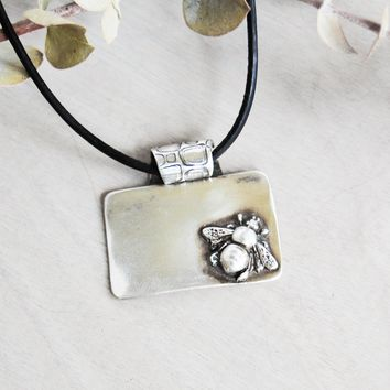 Perched Honey Bee Necklace