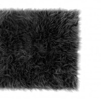 Wake Up Frankie - Faux the Love of Fur Rug - Black : Teen Bedding, Pink Bedding, Dorm Bedding, Teen Comforters