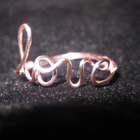 Light Pink Love Ring Wire Wrapped Dainty Bridesmaids Gifts