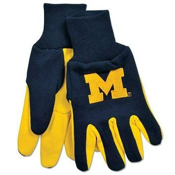 Michigan Wolverines Two Tone Gloves - Adult