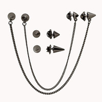 Spiked Collar Chain Set