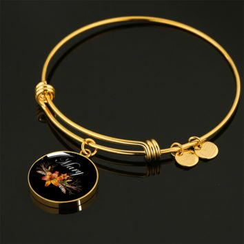Mary v3b - 18k Gold Finished Bangle Bracelet