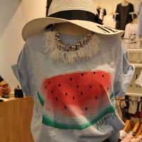 Watermelon Printed T Shirt