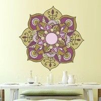 Full Color Wall Decal Mandala Model Map Ornament Star Buddha Yoga Flower Mcol38