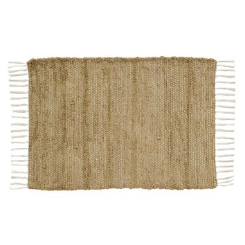 Burlap Natural Chindi/Rag Placemat Set of 6 12x18