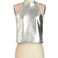 ModCloth Vintage Inspired Short Length Sleeveless Shine Times Out of Ten Top