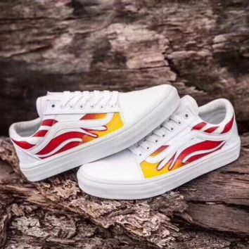 Vans Classics Old Skool White The flame Sneaker