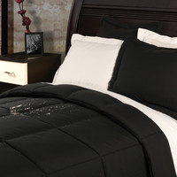 Twin Size Black Polyester Down Alternative Comforter