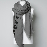 SCARF WITH A PRINTED SKULL BORDER - Woman - New this week - ZARA United States