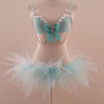 Frozen (Elsa) with Swarovski Crystals Outfit 32A,32B,36B