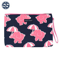 Simply Southern Elephant Party Makeup Brush Bag