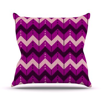 "Nick Atkinson ""Chevron Dance Purple"" Throw Pillow"