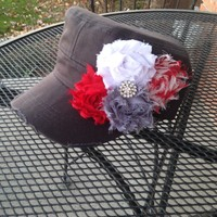 Women's Cadet Hat with Flowers