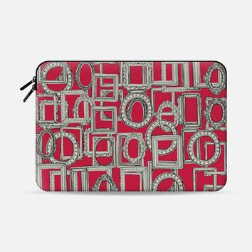 picture frames aplenty red Macbook Pro 13 sleeve by Sharon Turner | Casetify