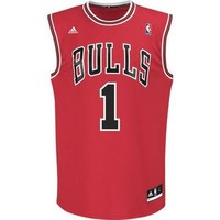 Fanzz Sports Apparel,Chicago Bulls NBA Derrick Rose #1 Replica Jersey (Red) NFL, NBA, MLB Apparel, NFL, MLB, NBA Jerseys and Merchandise, NHL Shop | Fanzz