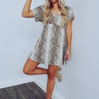 Not Waiting Around Dress: Multi