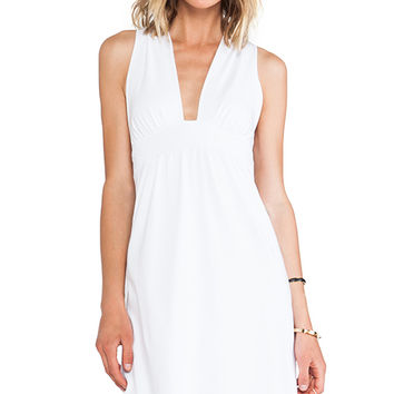 Susana Monaco Nadya Cross Back Dress in White