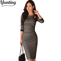 New Summer Women Vintage Sexy Work Business Office Party Bodycon Pencil Sheath Dress