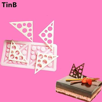 2017 Triangles Silicone Cake Mold Sugar Craft Fondant Mould Chocolate Molds Baking Tools For Cakes Birthday Cake Border Stencil