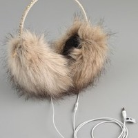 Juicy Couture Faux Fur Earmuff Speaker Headphones