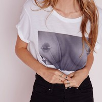 Missguided - Photograph Cropped T Shirt