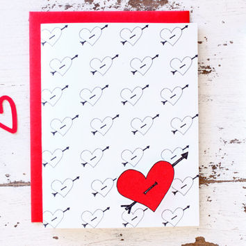 I Love You Card - Simple Valentine - Anniversary Card For Wife Card for Girflriend Boyfriend Husband - 201404100240