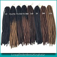 """20"""" Ombre Faux Locs Crochet Braids Pre Braided Synthetic"""